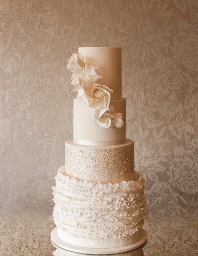Pure White Wedding Cake