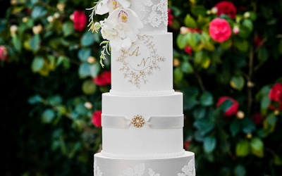 A Floral Wedding Cake for a Beautiful Garden Wedding!