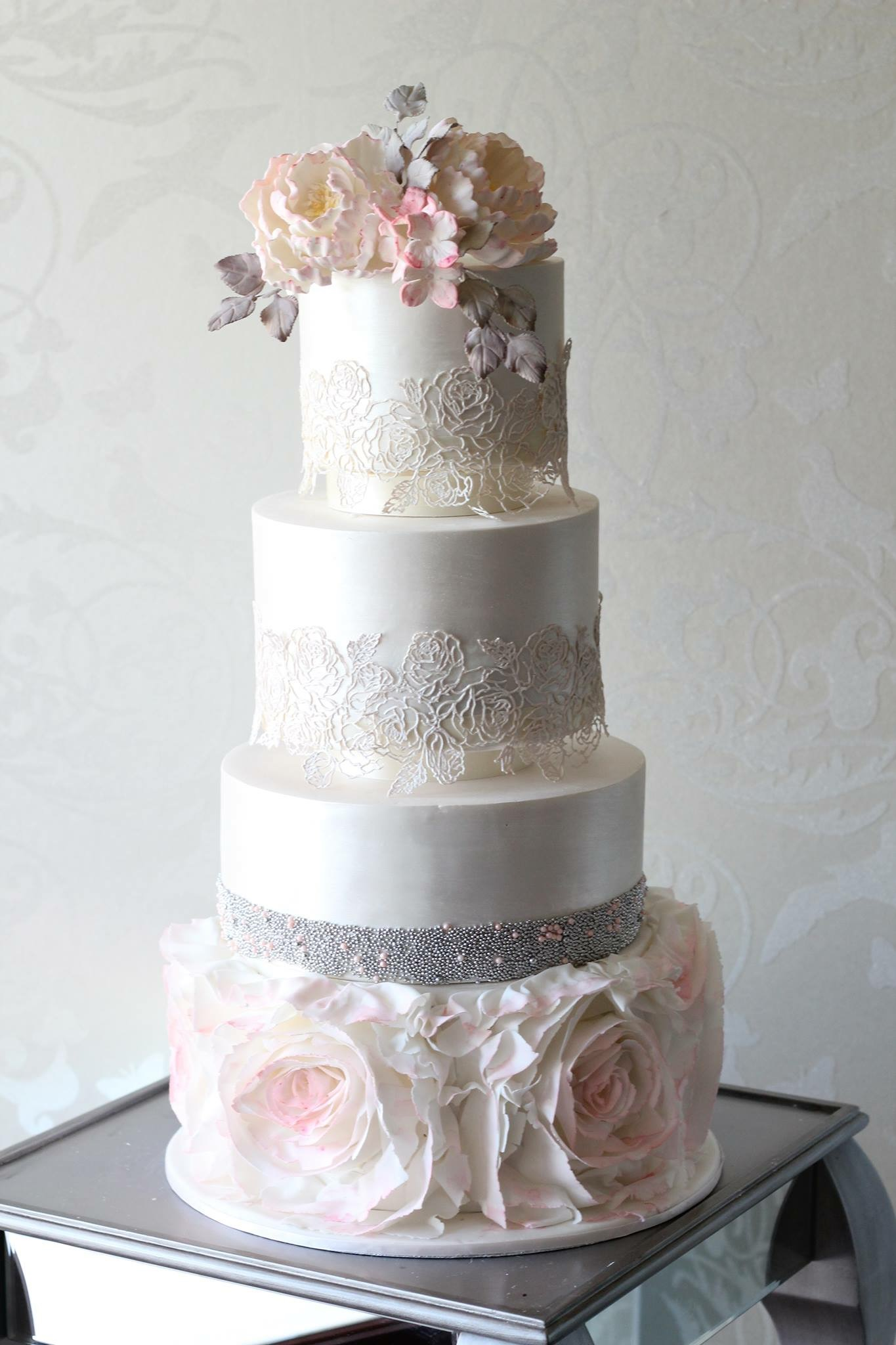 Silver Wedding Cakes custom