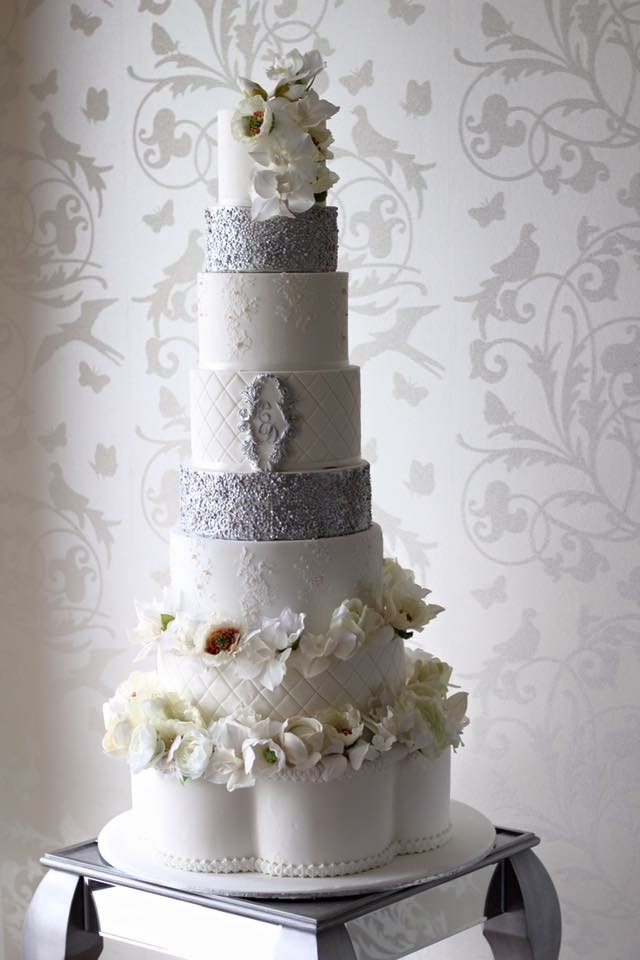 Silver Wedding Cakes Melbourne