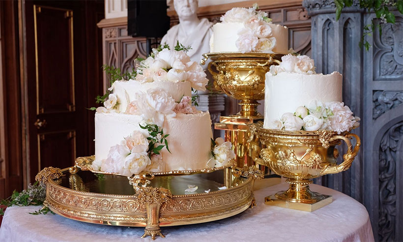Royal Wedding Cake and Flowers