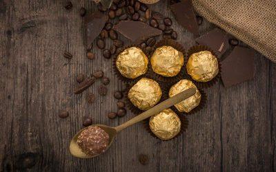 Ferrero Rocher flavoured cake