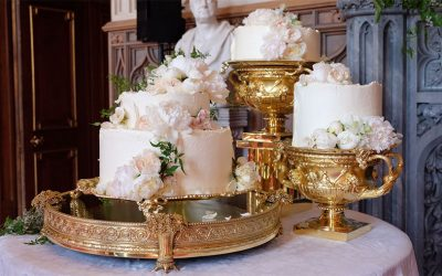 A High Fashion Split Tier Cake, Fit for Royalty